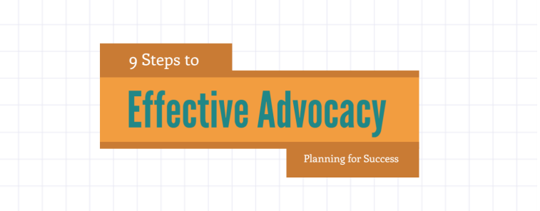 Advocacy Planning infographic logo