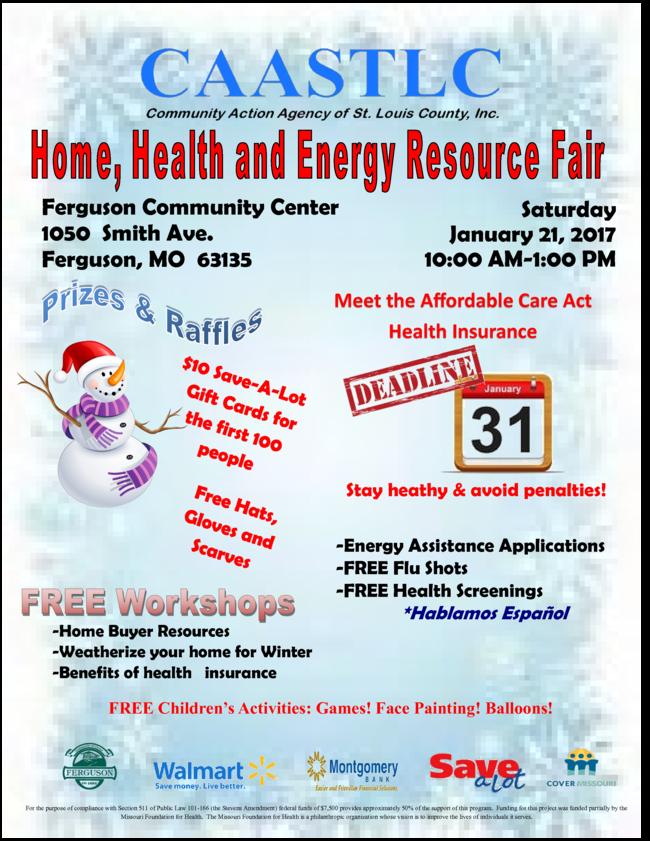 CAASTLC home, health and energy resource fair flyer